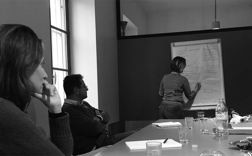 Atelier de reflexion sur le naming organisé par Morgane