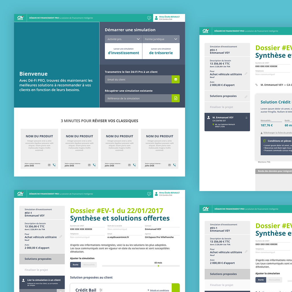Credit Agricole Oav Wireframes Prototype