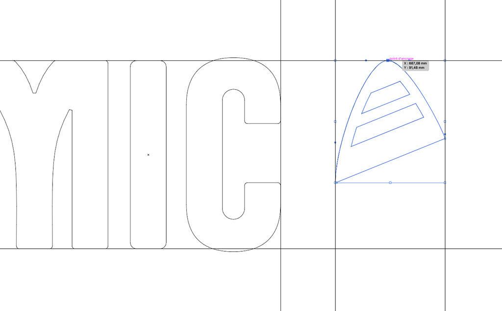 Refont du logotype pour les skis Dynamic