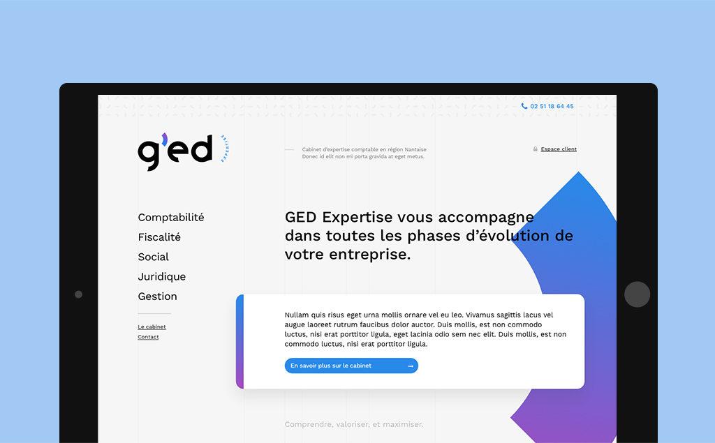 Développement du site WordPress pour GED Expertises Comptable à Nantes