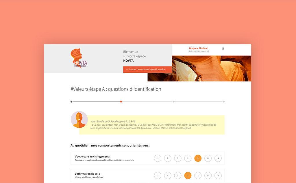 Interface conçue pour HOVTA