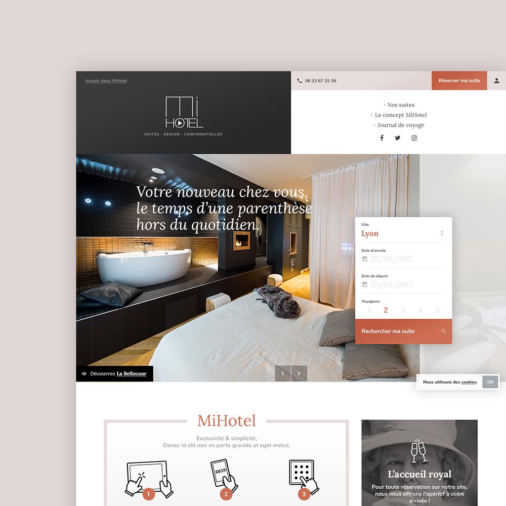Site designé pour Mi-Hôtel
