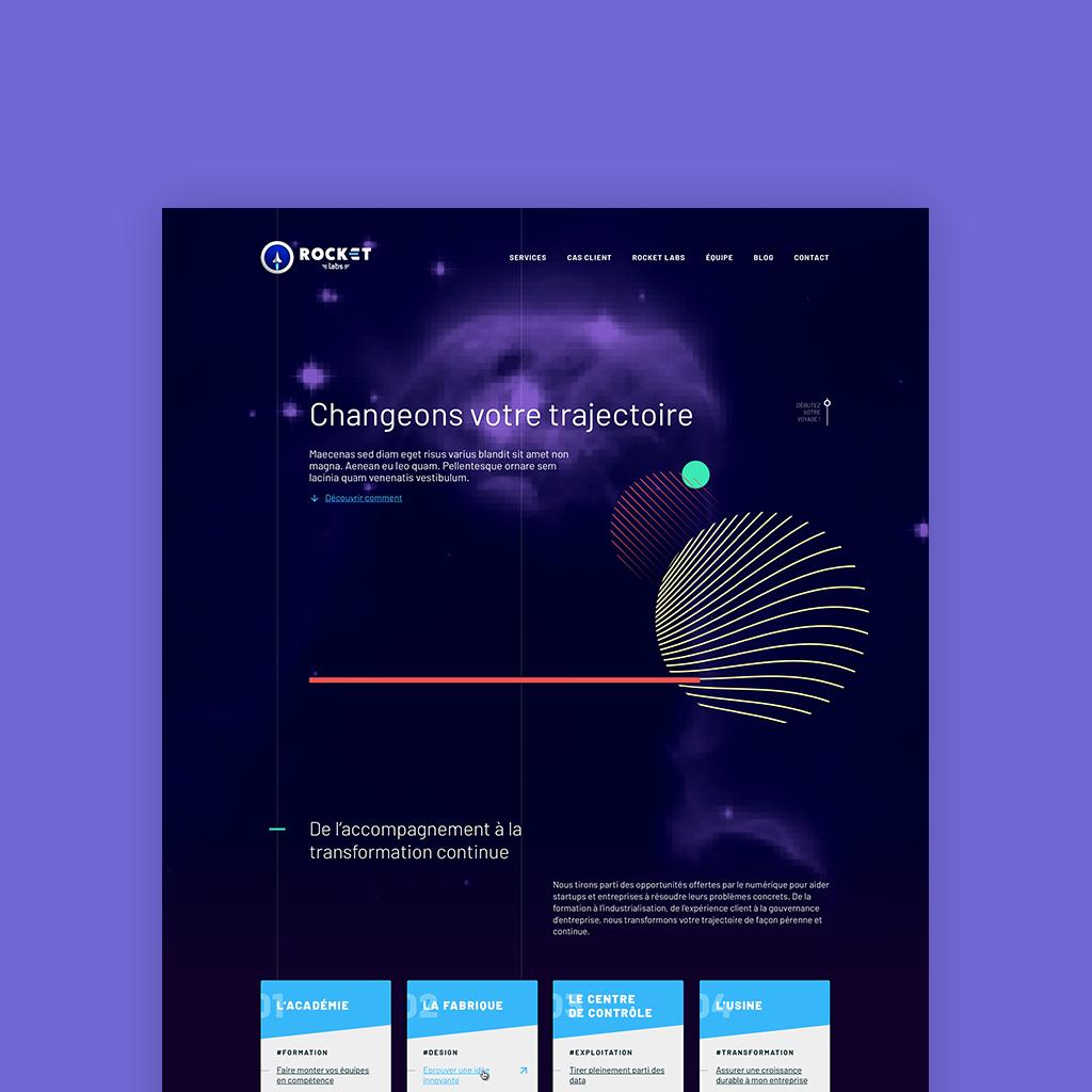 Développement du site de Rocket-Labs