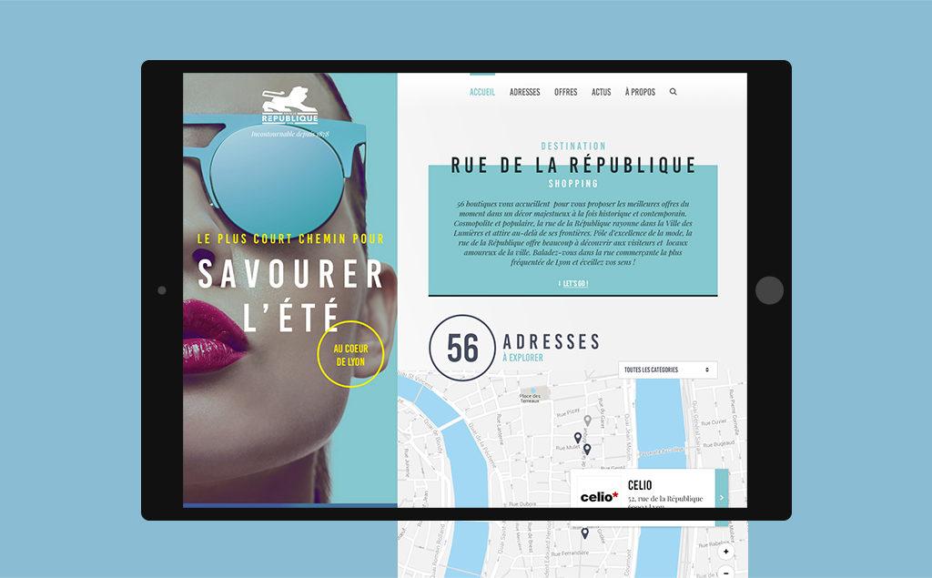 Recherche artistique pour le site Rue de la république