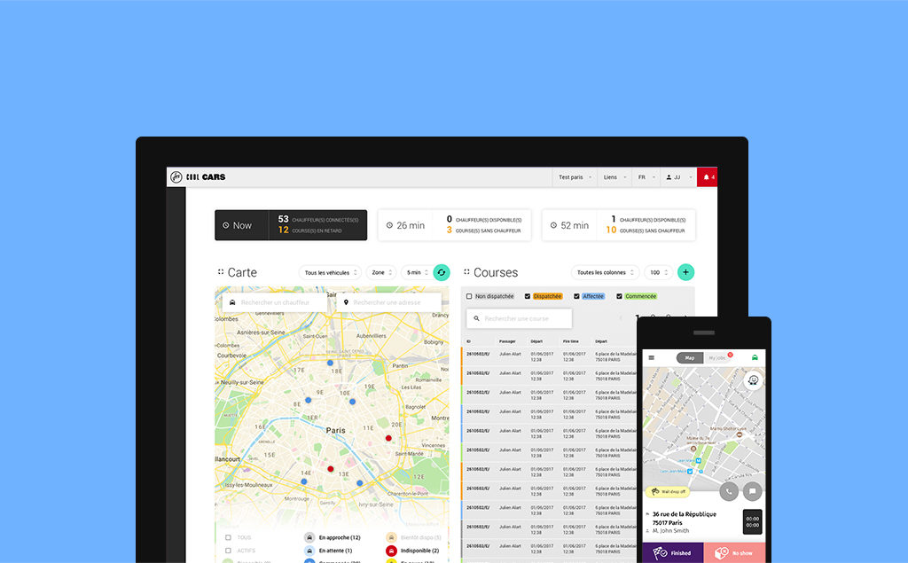 Design d'interface pour l'application YusoFleet