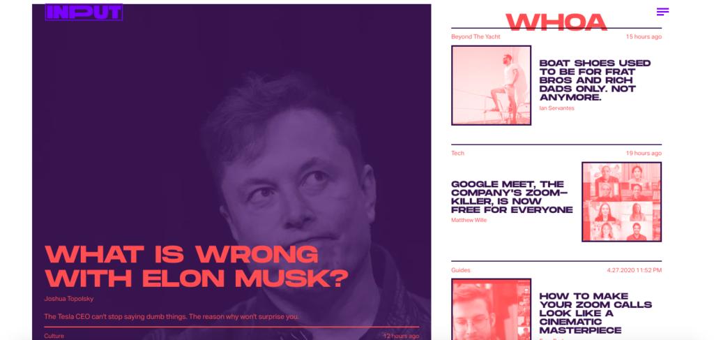 Input Magazine Webdesign