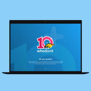 On a mis de l'animation sur le site des 10 ans de Whodunit !