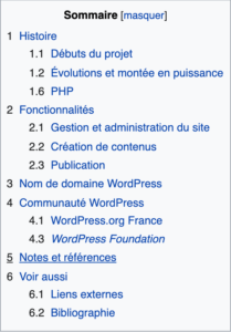 Wikipedia Sommaire